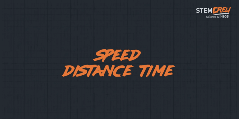 Speed Distance Time educational course for schools