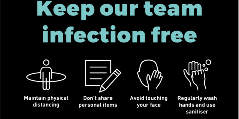 Keep our team infection free
